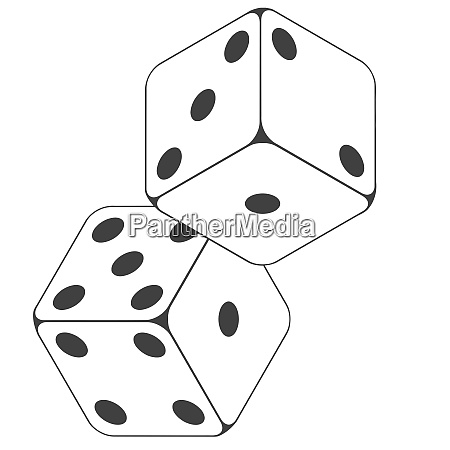 dices white color numbers play luck