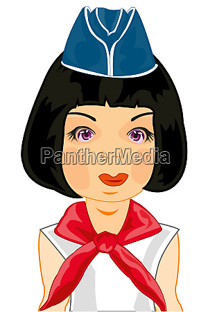 vector illustration of the girl in