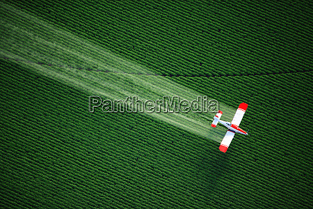 aerial view of a crop duster