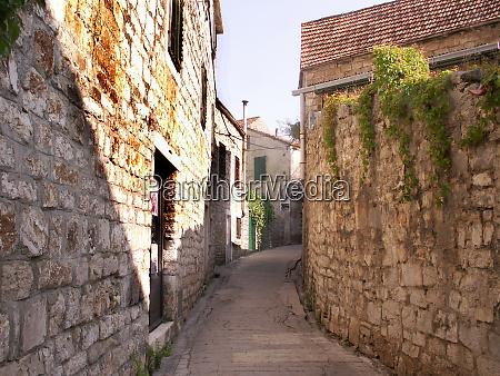 old town street in jelsa in