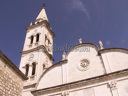church in jelsa in croatia
