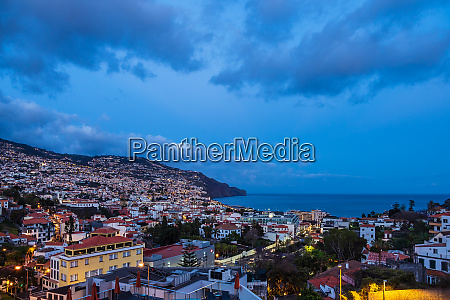view to the city funchal on