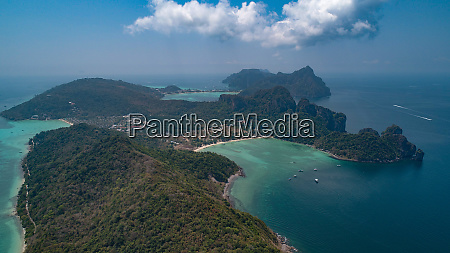 aerial view of beautiful tropical railay