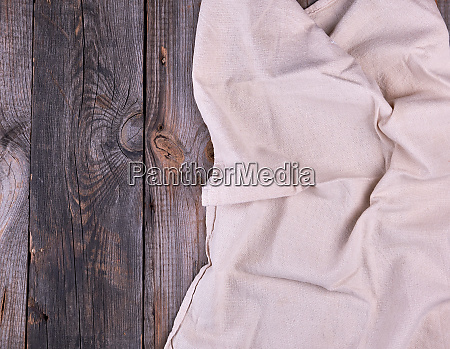 textile dishcloth on a gray wooden