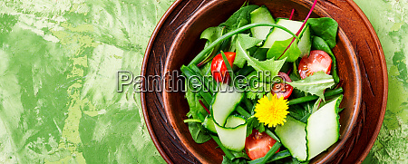spring salad with fresh herbs