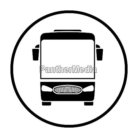 tourist bus icon front view
