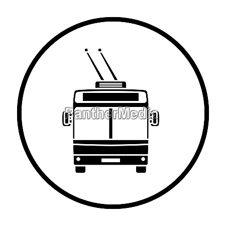 trolleybus icon front view