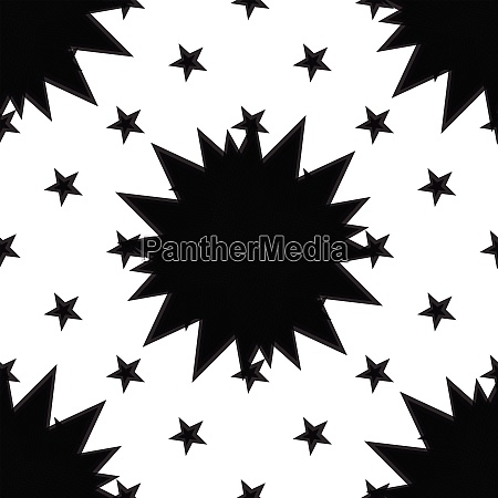 seamless black and white abstract concentric