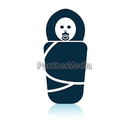 wrapped infant icon