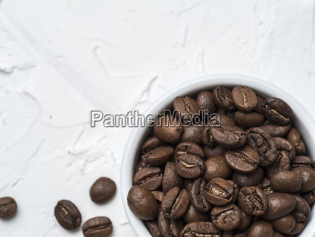 brown coffee beans with copy space