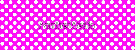 pink background banner with white dots