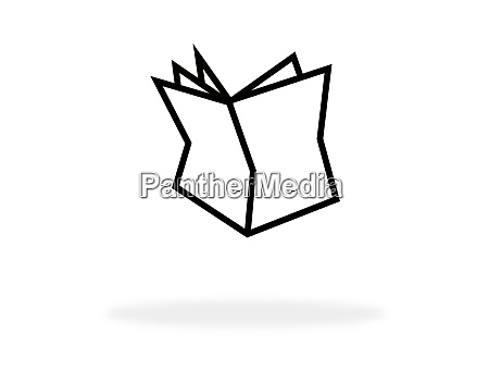 newspaper icon with white color