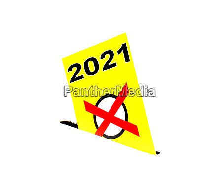 yellow envelope with ballot box