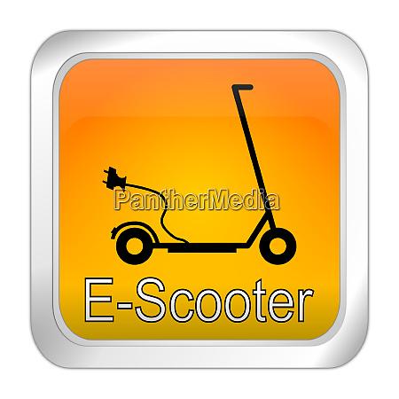 orange e scooter button 3d