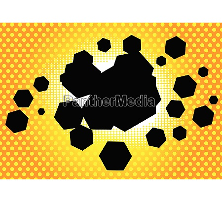 comic book background hexagon shaped bubble