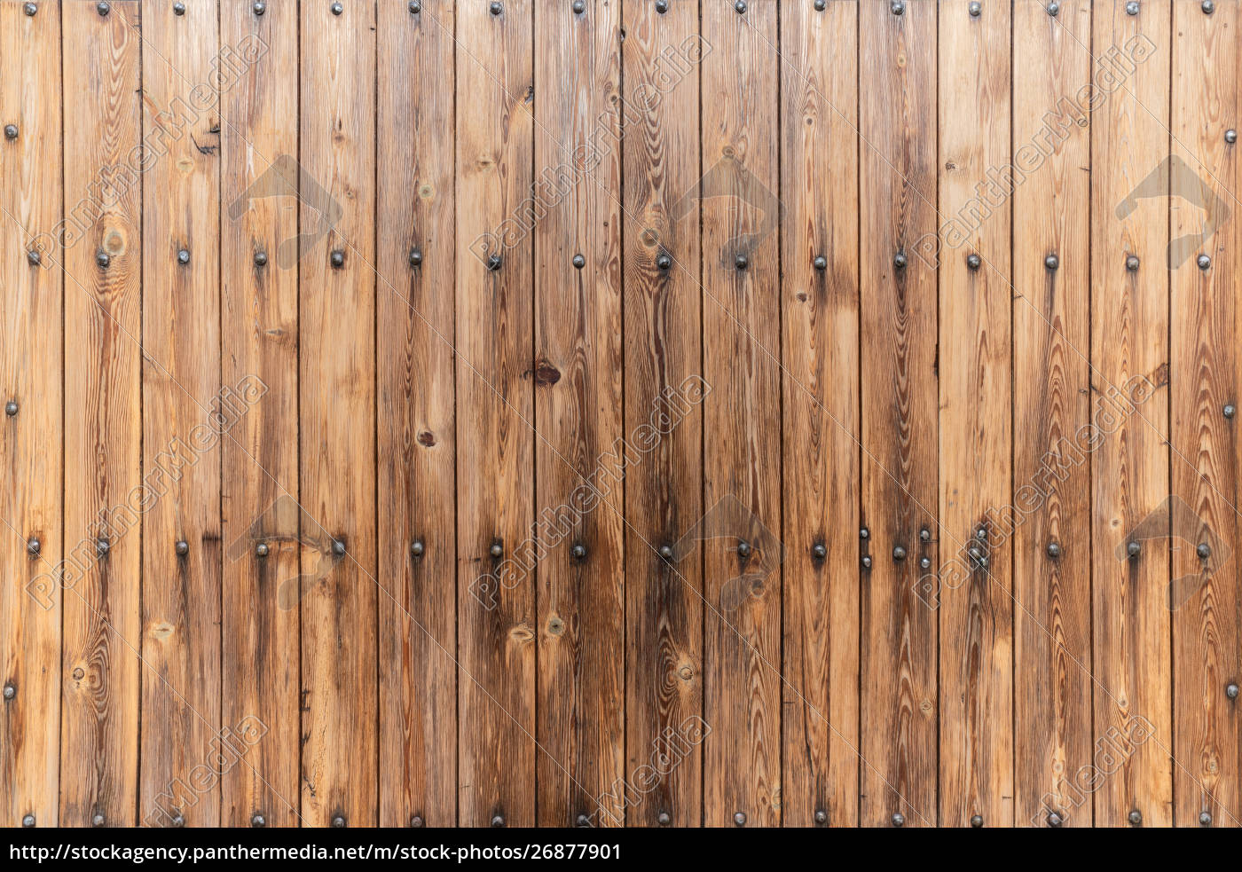 Brown Rustic Wood Wall Covering Made Of Vertical Stock Photo 26877901 Panthermedia Stock Agency