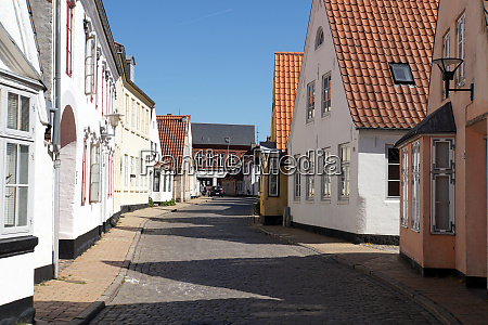 historic old town aabenraa south denmark