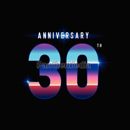 30 years anniversary celebration logotype colorful