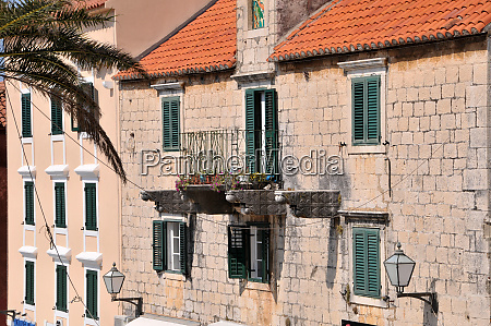 old town of makarska in croatia