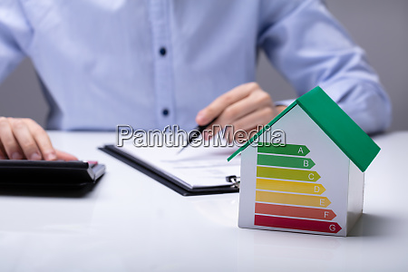 small house with energy efficiency rate