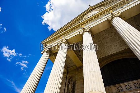 pillars on a historic building
