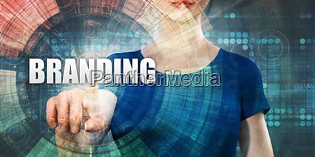 woman accessing branding