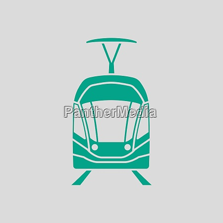 tram icon front view
