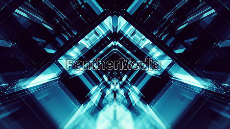 blue glow blur lines abstract background