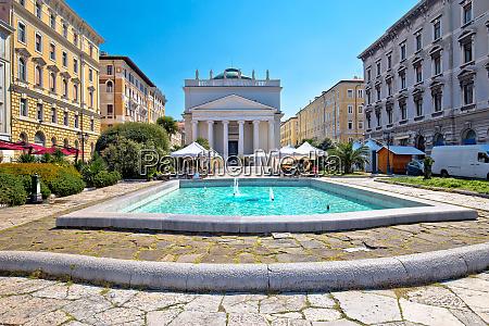 trieste piazza sant antonio nuovo fountain