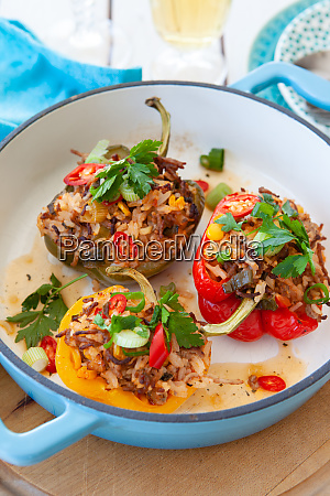 colorful stuffed bell peppers