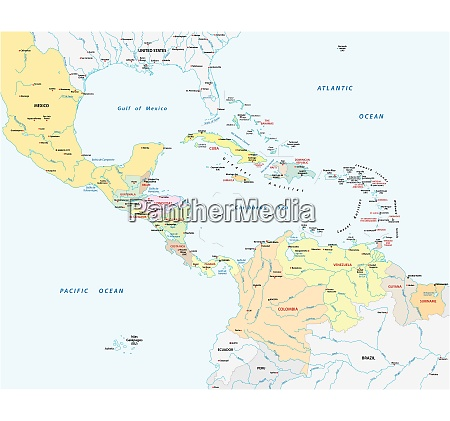 association of caribbean states map