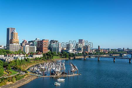 marina and downtown portland oregon