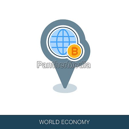 global economy pin map icon