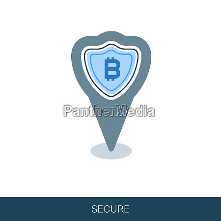 secured digital internet cryptocurrency bitcoin