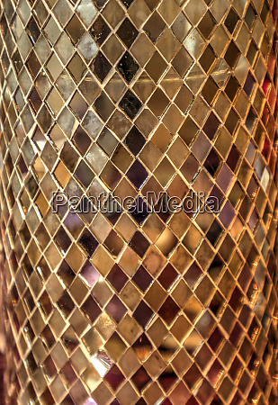 gold mirror background with the squares