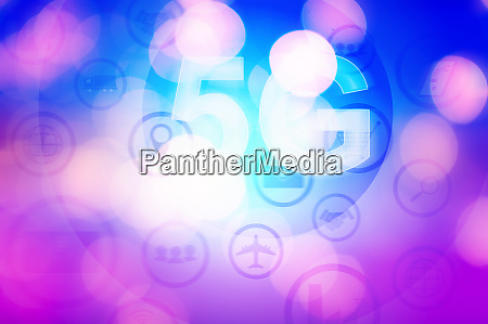 5g internet concept with businessman pressing