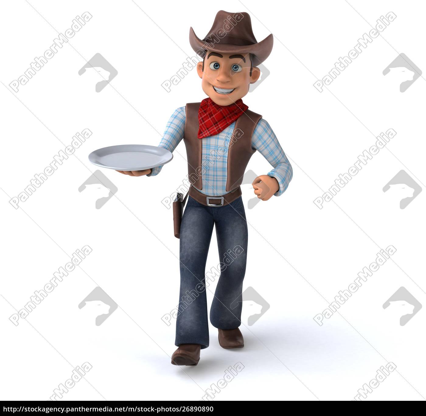fun, cowboy, -, 3d, illustration - 26890890