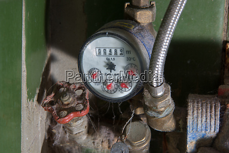 old dirty water meter