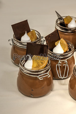 sweet grand marnier chocolate mousse dessert