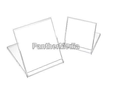 two plastic display isolated on white