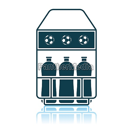 soccer, field, bottle, container, icon - 26894562
