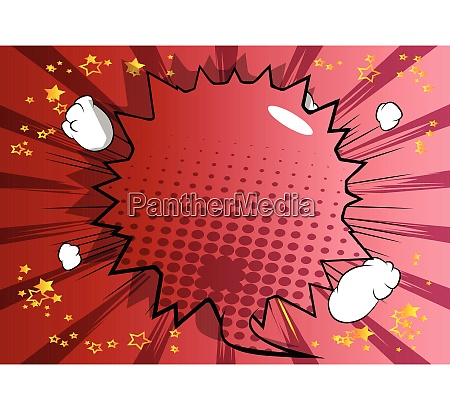 comic book background with big colored