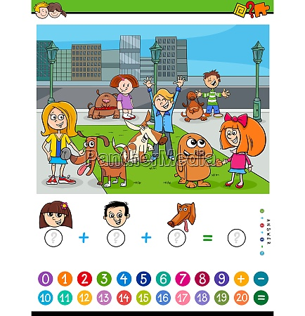 counting and adding task for kids