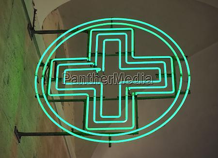 cross pharmacy sign