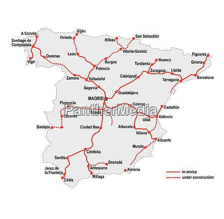 map of the high speed railway