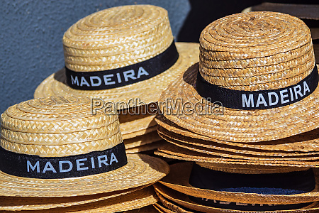 straw hats in funchal on the