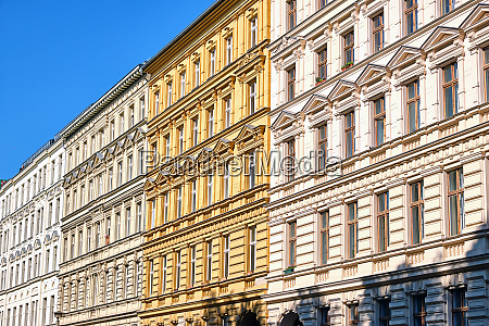 renovated old apartment houses at the
