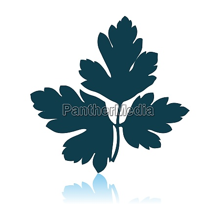 parsley icon on gray background