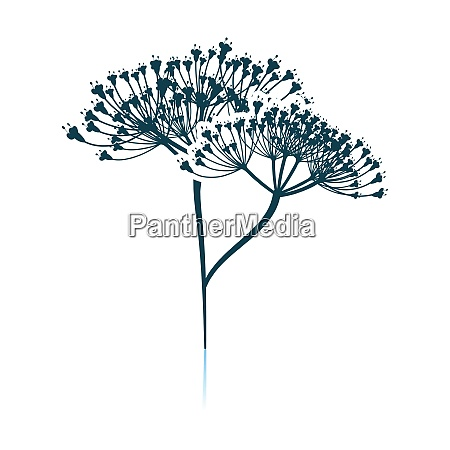 dill icon on gray background