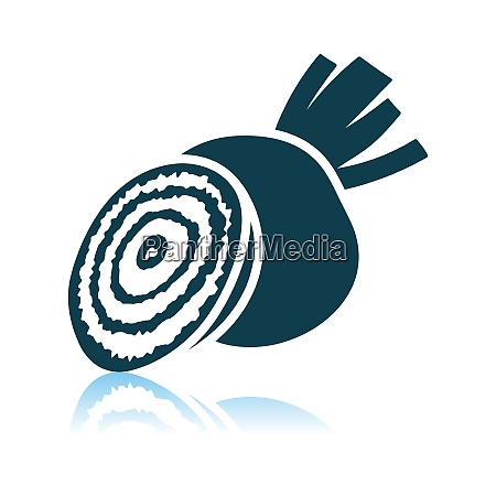 beetroot icon on gray background